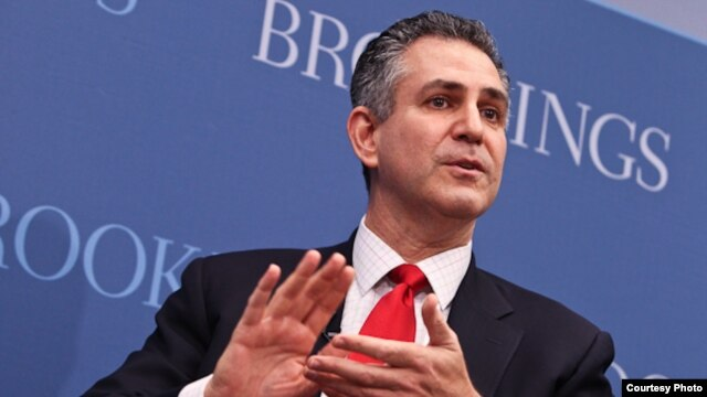 Under Secretary of Commerce for International Trade Francisco Sánchez speaking at the Brookings Institution in Washington, D.C. in March.