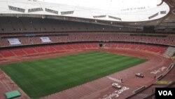 北京奥运会之后成为旅游点的鸟巢体育场。(资料照)