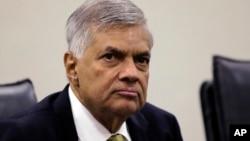 被总统撤职的斯里兰卡总理维克勒马辛哈(资料照 )