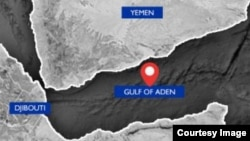 An International Organization for Migration map shows the approximate location of the boat that capsized off the coast of Djibuti, carrying Yemeni and Ethiopian refugees. (IOM) (FILE 2018)