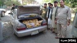 Une saisie de drogues en Afghanistan, le 8 juillet 2017.