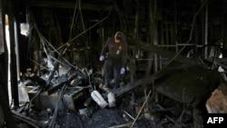 Мусульманский центр Хьюстона после пожара