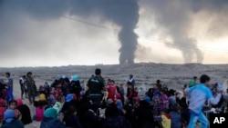 平民纷纷逃离摩苏尔(2016年10月18日)