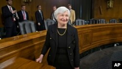 FILE - Janet Yellen on Capitol Hill in Washington, Nov. 14, 2013.