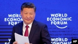 Chủ tịch TQ Tập Cận Bình tại Diễn đàn Kinh tế Thế giới, Davos, Thuỵ Sĩ, ngày 17 tháng 01 năm 2017.