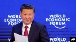 中國國家主席習近平在達沃斯世界經濟論壇年會開幕式上發表主旨演講。