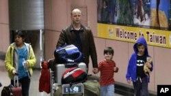 타이완으로 대피한 미국인들