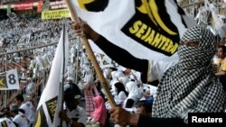Para pendukung Partai Keadilan Sejahtera (PKS) dalam suatu kampanye. (Foto: Dok)