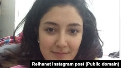 "Reyhaneh Taravati announces she has been released in her ""reihanet"" Instagram post, May 21, 2014."