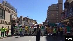 Une manifestation organisée contre la xénophobie.