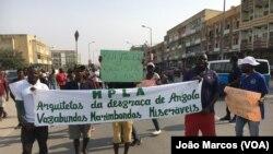 """""""Revús"""" protestam em Benguela (Foto de Arquivo)"""