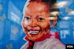 탈북화가 송벽 씨의 미 뉴욕 전시회에 전시된 작품.