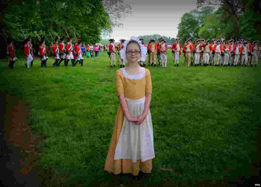 Девочка из лагеря американских революционеров