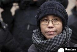 諾貝爾和平獎得主劉曉波的妻子劉霞(資料圖片)