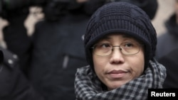 FILE - Liu Xia, the wife of Chinese dissident Liu Xiaobo.