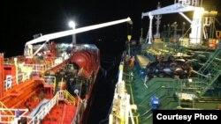 Petroleiros Marida Melissa e Duzgit Integrity ao largo de Sao Tome