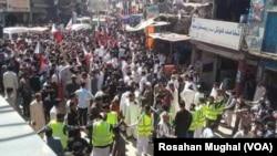 پاکستانی کشمیر میں احتجاجی مارچ، 16 مارچ 2018