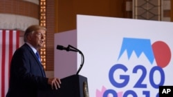 Serokê Amerîka Donald Trump di Komcivîna G20 de