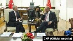 Avrupa Parlamentosu Başkanı Martin Schulz CHP Genel Başkanı Kemal Kılıçdaroğlu'yla