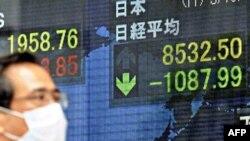 Бедствие в Японии вызвало панику на мировых фондовых рынках