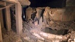 تصویری از خسارات وارد آمده در پی حمله هوایی ناتو به طرابلس - ۱۰ مه ۲۰۱۱