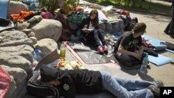 Мирный лагерь протестующих