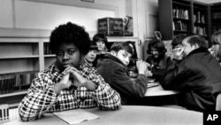 FILE - Linda Brown Smith, date and location unknown. Smith was a third grader when her father started a class-action suit in 1951 of the Brown v. Board of Education of Topeka, Kansas, which led to the U.S. Supreme Court's 1954 landmark decision against sc