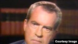 Prezidan Richard Nixon.