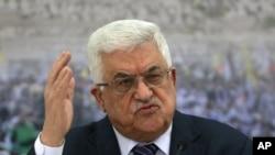 巴勒斯坦民族权力机构主席阿巴斯(资料照片)