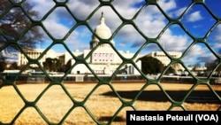Le Congrès, où aura lieu l'investiture de Donald Trump à Washington DC, le 18 janvier 2017. (VOA/Nastasia Peteuil)