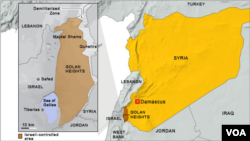 Golan Heights inset map