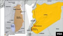 Bản đồ Cao nguyên Golan (bấm vào để phóng to lên)