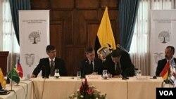 De trece países reunidos, once firmaron la declaración conjunta el martes en la ciudad de Quito, Ecuador.
