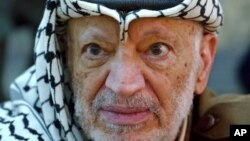 Mantan pemimpin Palestina Yasser Arafat yang meninggal dunia pada 2004 di sebuah rumah sakit militer di Perancis. (Foto: AP)