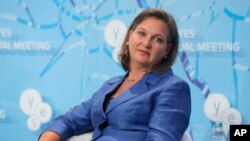 Victoria Nuland, assistant U.S. secretary of state for European and Eurasian affairs, participates in discussions on Ukraine and other global challenges, organized by the Yalta European Strategy at the Mystetsky Arsenal Art Center in Kiev, Ukraine, Sept.