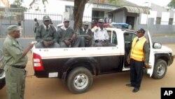 Polícias da brigada PIR em Chimoio(Arquivo)