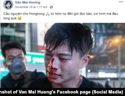 Ca sĩ Văn Mai Hương bày tỏ xót thương cho những người đấu tranh ở Hong Kong, 16/11/2019