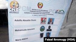 Moçambique - Boletim de Voto