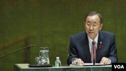 Sekjen PBB Ban Ki-moon mengutarakan keprihatinan terkait bentrokan kekerasan terbaru di Rakhine utara, Burma (Foto: dok).
