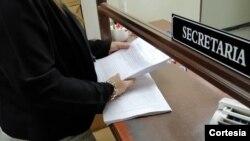 De acuerdo con el informe de la Sección de Probidad de la Corte Suprema de Justicia, fueron encontradas ocho irregularidades en el patrimonio de Reyes. Foto cortesía Fiscalía de El Salvador.