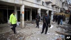 지난 3월 파키스탄 이슬라마바드에서 일어난 폭탄 테러 현장. (자료사진)