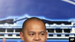 Marvic Leonen, chief government negotiator for peaces talk with the Moro Islamic Liberation Front, during a press conference Jan. 14, 2011 in Manila, Philippines.
