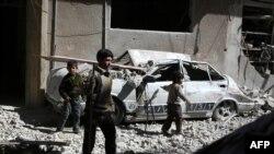 Destructions suite aux combats en Syrie (AFP)
