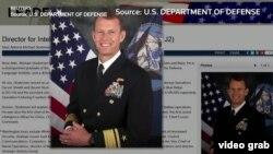 美國海軍少將邁克爾·斯蒂德曼到訪台灣。(視頻截圖)