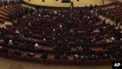 FILE - Iraqi lawmakers are seen in session in parliament in Baghdad.