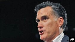 Republican presidential candidate, former Massachusetts Governor Mitt Romney (file photo)
