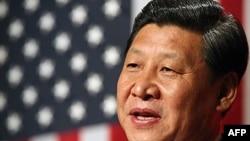 Phó Chủ tịch Trung Quốc Tập Cận Bình phát biểu tại một bữa ăn tối chính thức để khoản đãi ông đêm hôm 15/2/2012 ở Des Moines, thủ phủ bang Iowa