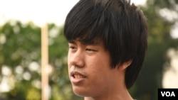 香港公開大學學生Martin (美國之音湯惠芸拍攝)