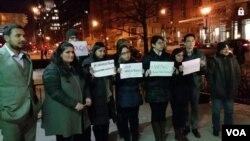 چارسدہ یونیورسٹی دہشت گردی کے خلاف واشنگٹن میں احتجاج