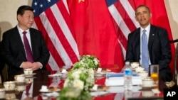 美國總統奧巴馬與中國國家主席習近平在海牙的會晤.